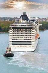 Cruise ship in Canl Grande, Venice.