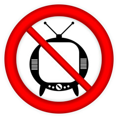 No TV sign
