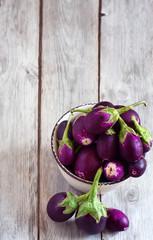 Mini aubergines background