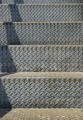 diamond metal plate staircase background