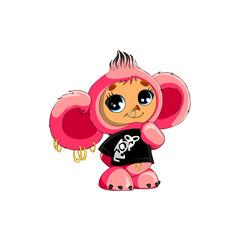 toy pink Cheburashka