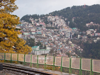 Housing on a densely populated hillside, Shimla