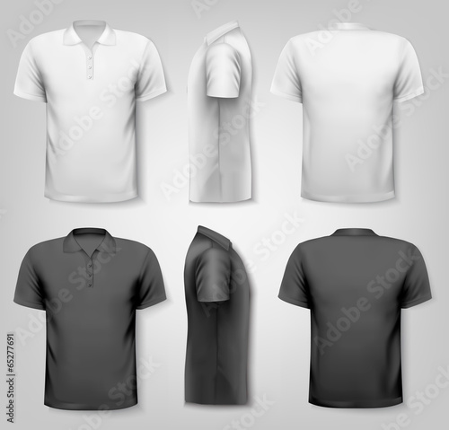 Polo shirts with sample text space. Vector. - 65277691