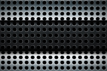 perforated steel texture multilayer