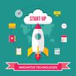 Start-Up Creative Illustration in Flat Design Style - 65279402