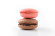 マカロン フランスのお菓子 白背景