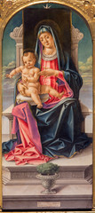 Venice - Madonna by  Vivarini in Santa Maria dei Frari.