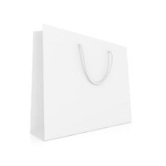 Einkaufstasche - schlicht weiß