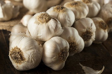 Organic Raw White Garlic