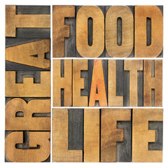 great food, health and life