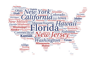 United States of America word cloud