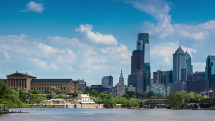 Timelapse of the philadelphia skyline - Pennsylvania USA