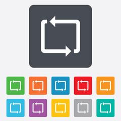 Repeat icon. Loop symbol. Refresh sign.