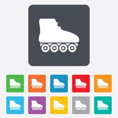 Roller skates sign icon. Rollerblades symbol.