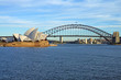 Leinwanddruck Bild - The Sydney Harbour Bridge and Opera House