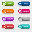 Colored set rectangular web buttons - 65284447