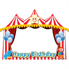 birthday or party photo frame