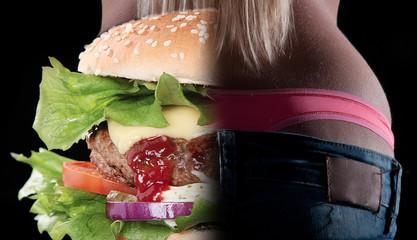 Hamburger auf Hüfte, sexy Hintern oder Fett, alles in Maßen