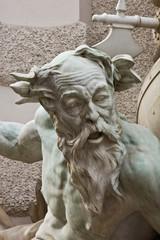 Brunnen detail des Brunnens Macht zur See vo der Wiener Hofburg