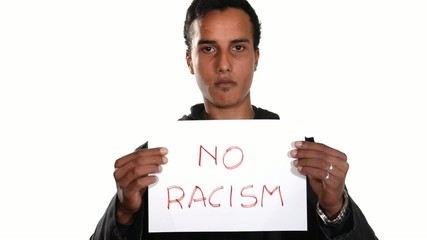 No to racism. English version.
