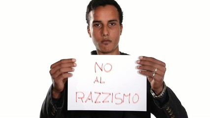 No to racism. Italian version.