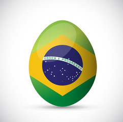 brazil flag egg illustration design