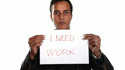 The unemployed generation. Jobless boy.