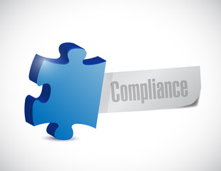 compliance puzzle piece sign illustration design