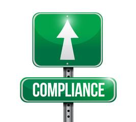 compliance street sign illustration design