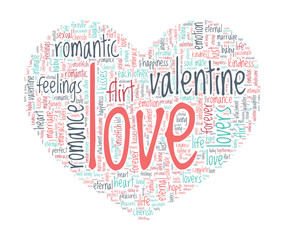 Love Concept - Heart shaped word cloud