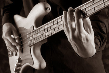 playing jazz bass
