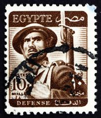 Postage stamp Egypt 1953 Soldier
