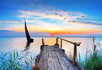 un dia en el mar azul