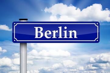 Schild Antik mit Berlin