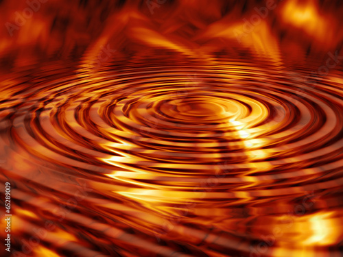Deurstickers Abstract wave Fire Waves