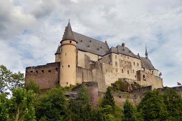 Vianden Castle is a large fortified castle in Luxembourg