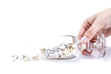 Perlen-Glas