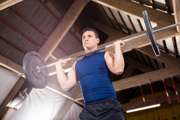 Lifting weights in a crossfit gym