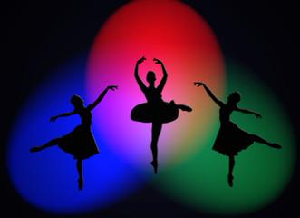 Bailarina, baile, ballet, focos, luces