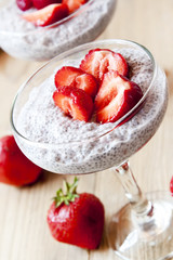 Chia Pudding with Strawberry