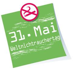 Weltnichtrauchertag,Post-it,Button,Banner,grün