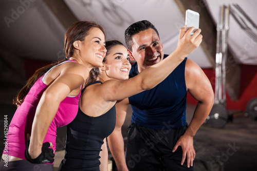 Selfie in a crossfit gym