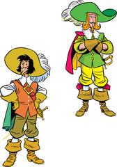 two cartoon Musketeers