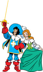Musketeer and girl
