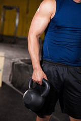 Closeup of a kettlebell