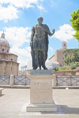 Statue of the emperor Julius Caesar, Rome, Italy