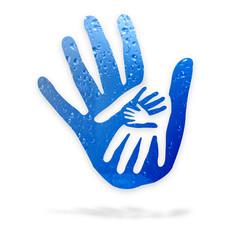 Mani nell'acqua - logo