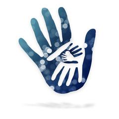 Mani nelle mani - logo - fantasia