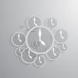 Vector clock icon background
