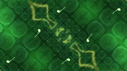 Green abstract music looping animated background